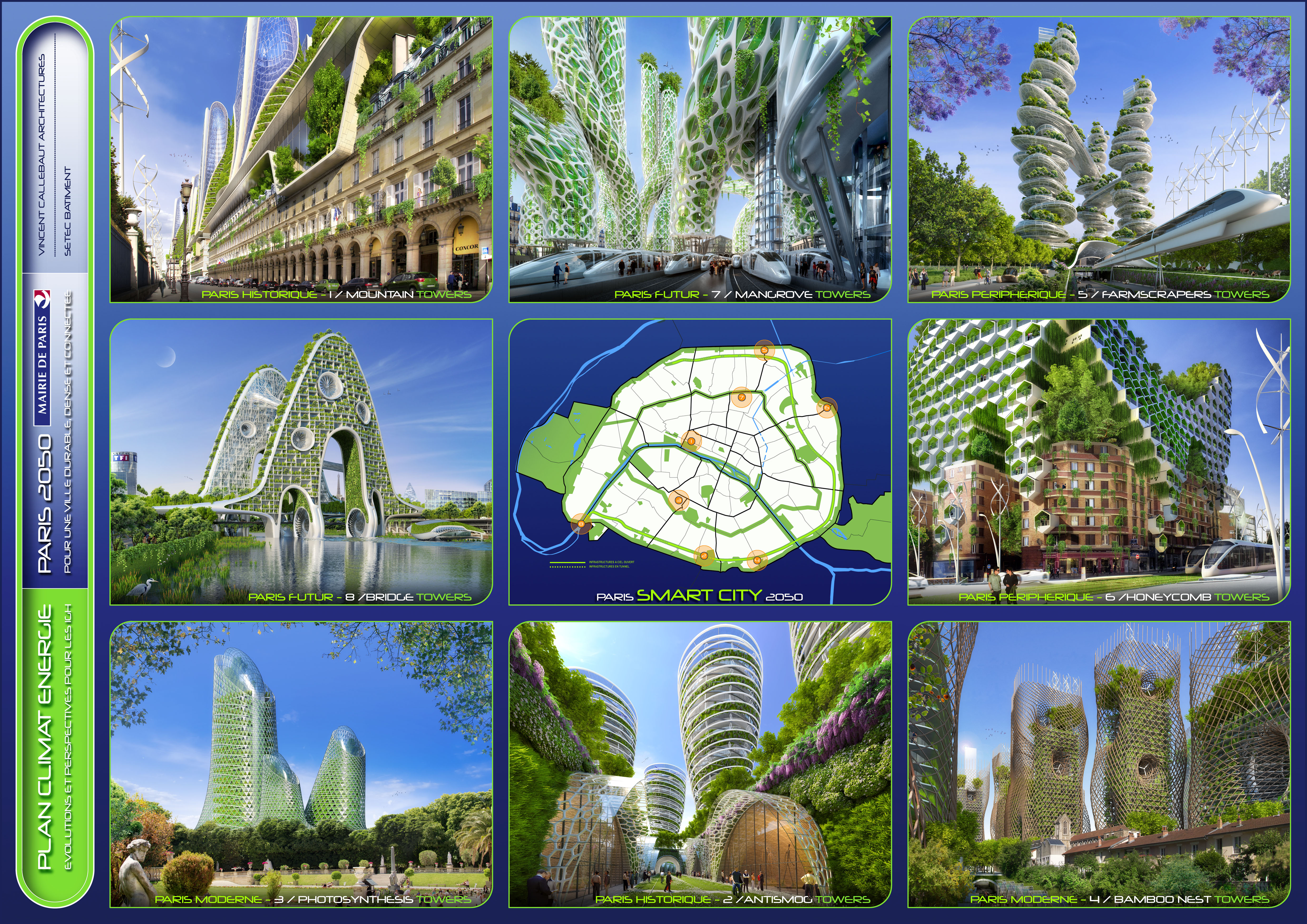 Vincent callebaut dessine le paris de l 39 avenir focus on for Architecture 2050
