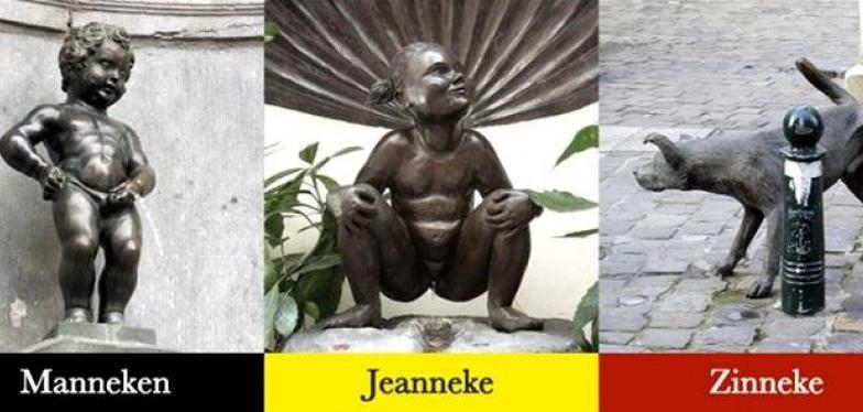 saviez vous qu 39 il y avait aussi une jeanneke pis outre le manneken pis focus on belgium. Black Bedroom Furniture Sets. Home Design Ideas